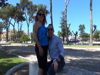 Angela y Alberto de turismo liberal y con ganas de grabar porno.